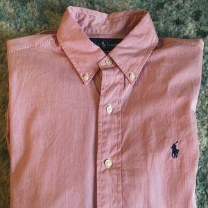 Men's Ralph Lauren Dress Shirt Button Down Collar